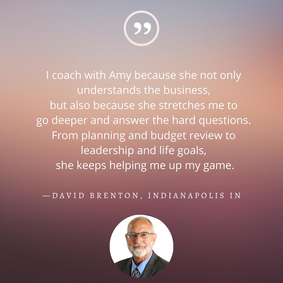 testimonial from david brenton