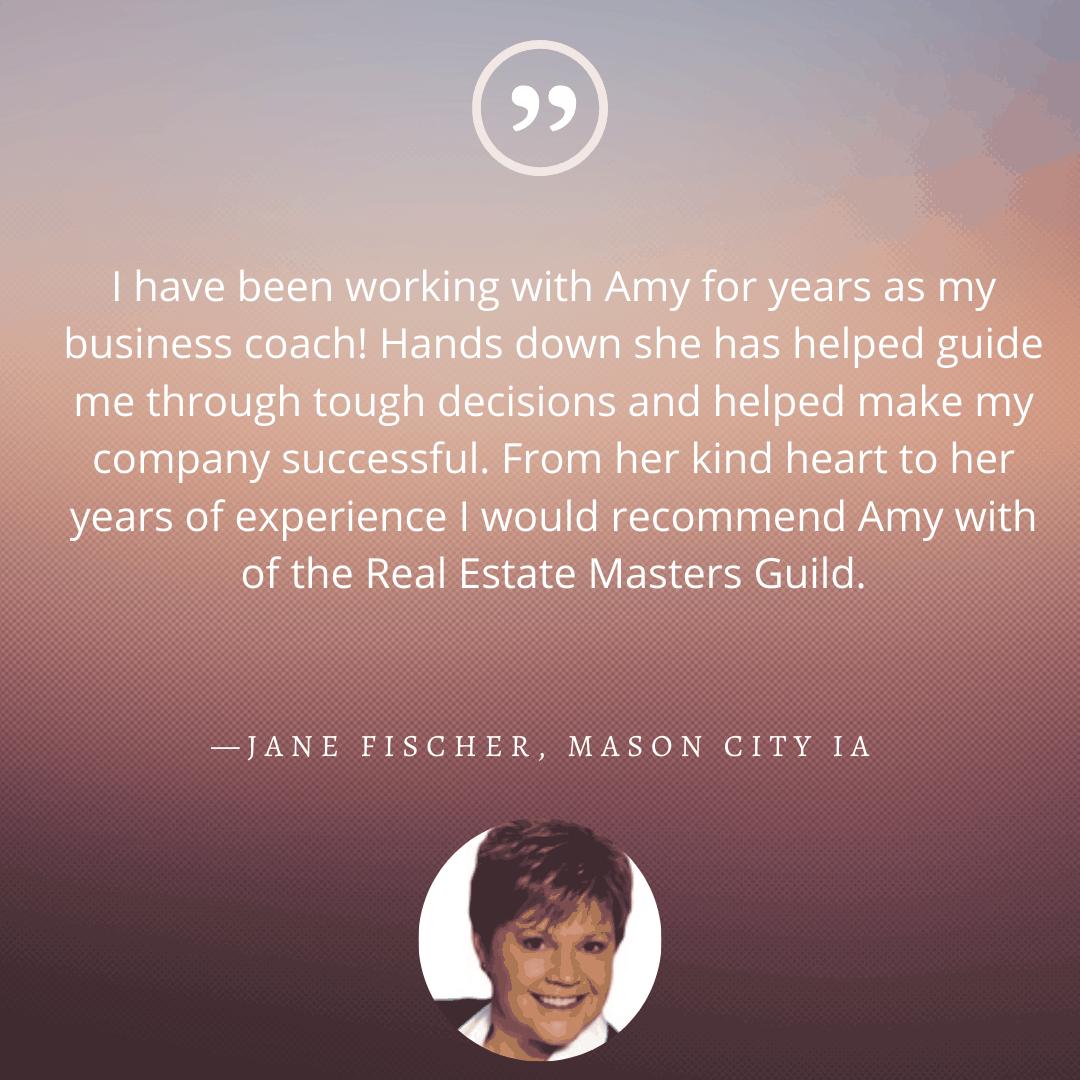 Testimonial from Jane Fischer
